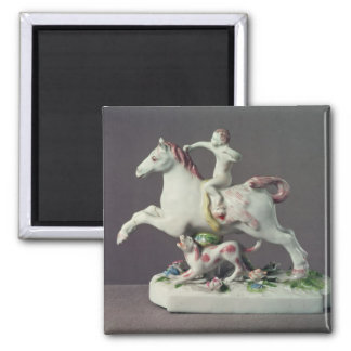 Longton Hall figure of Cupid riding a horse Magnet