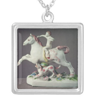 Longton Hall figure of Cupid riding a horse Silver Plated Necklace