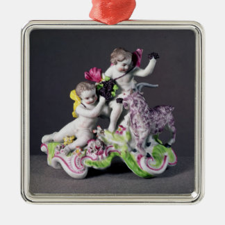 Longton Hall group, two putti with goat, c.1755 Metal Ornament