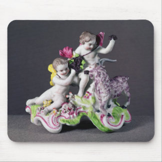 Longton Hall group, two putti with goat, c.1755 Mouse Pad