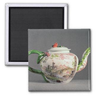 Longton Hall teapot, c.1755 2 Inch Square Magnet