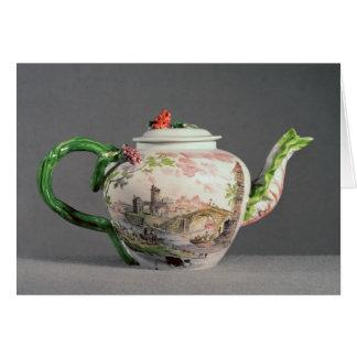Longton Hall teapot, c.1755 Card