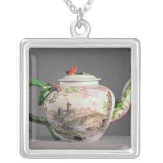 Longton Hall teapot, c.1755 Silver Plated Necklace