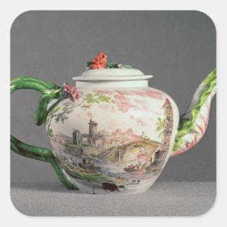 Longton Hall teapot, c.1755 Square Sticker