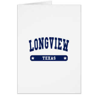Longview Texas College Style tee shirts Cards