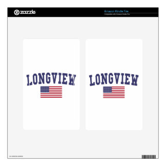 Longview WA US Flag Decal For Kindle Fire