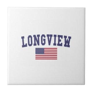 Longview WA US Flag Tile
