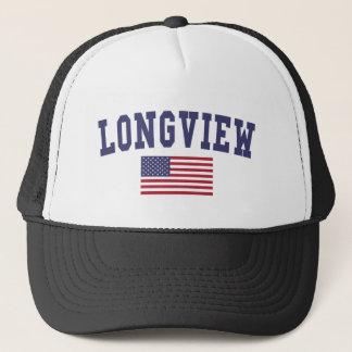 Longview WA US Flag Trucker Hat