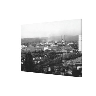 Longview, WA View of Long-Bell Lumber Co Canvas Print