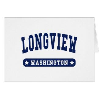 Longview Washington College Style tee shirts Cards