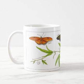 Longwing butterflies classic white coffee mug