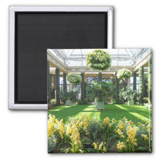 Longwood Gardens Conservatory 2 Inch Square Magnet