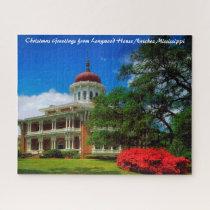 Longwood House Natchez Christmas Greetings Jigsaw Puzzle