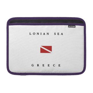Lonian Sea Greece Scuba Dive Flag MacBook Sleeve