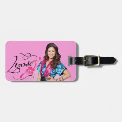 Small Luggage Tag with leather strap with Descendants Lonnie Portrait design