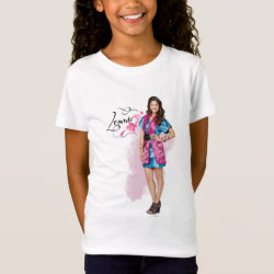 Girls' Fine Jersey T-Shirt with Descendants Lonnie Portrait design