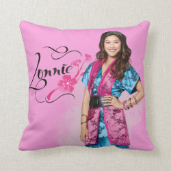 Cotton Throw Pillow with Descendants Lonnie Portrait design