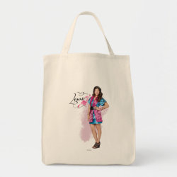 Grocery Tote with Descendants Lonnie Portrait design
