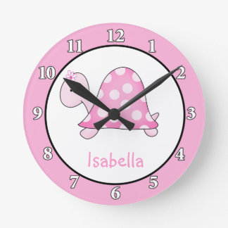 Lonnie's Pink Turtle Wall Clock