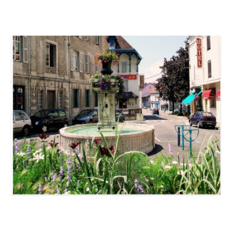 Lons le Saunier fountain Postcard
