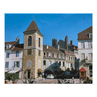 Lons le saunier,town square and belfrey posters