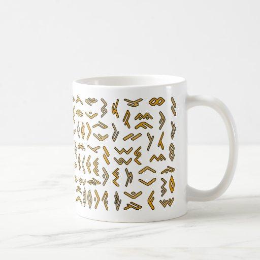 Lontara script mugs