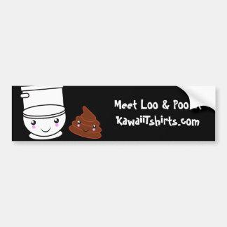 Loo & Poo cute Kawaii friends Bumper sticker