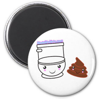 Loo & Poo Kawaii friends t-shirts & more 2 Inch Round Magnet