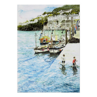 'Looe Harbour' Poster
