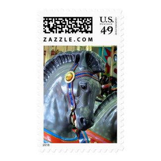 Looff Carousel Horse, Santa Cruz Postage