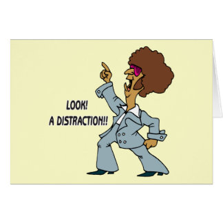 Look A Distraction Stationery Note Card