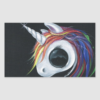 Look! A ugly one-horned mule! Rectangular Sticker