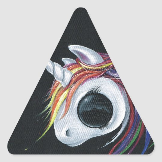 Look! A ugly one-horned mule! Triangle Sticker
