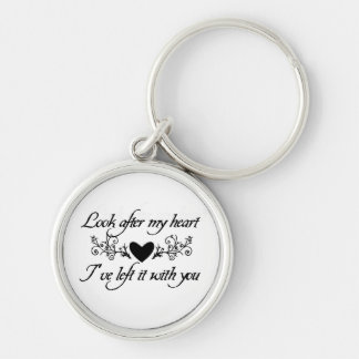 Look After My Heart Sterling Silver Keychain