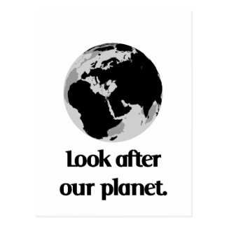 Look After Our Planet Postcard