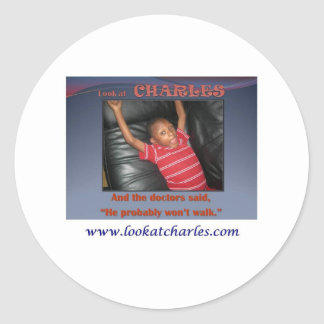 Look At Charles Classic Round Sticker