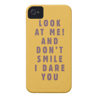 Look at me! And don't smile, I dare you iPhone 4 Covers