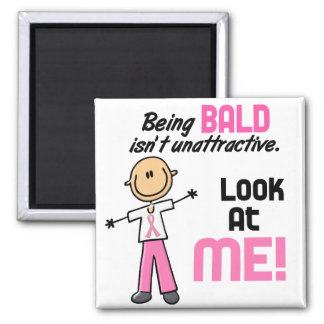 Look At Me Breast Cancer Stick Figure Refrigerator Magnet