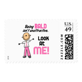 Look At Me Breast Cancer Stick Figure Stamps