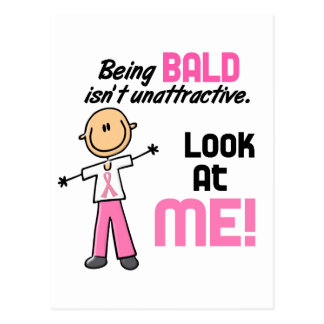 Look At Me Breast Cancer Stick Figure Postcard