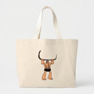 Look at that Caveman Large Tote Bag