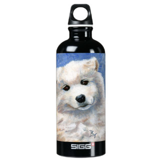 Look At That Face Puppy Aluminum Water Bottle