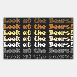 Look at the Bears! Rectangular Sticker