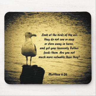 Look at the birds Matthew 6:26 Mouse Pad
