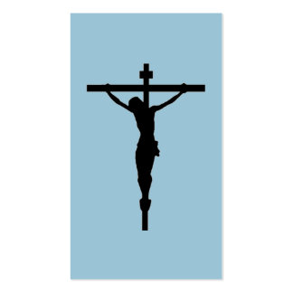 Look at the Crucifix, blue Double-Sided Standard Business Cards (Pack Of 100)