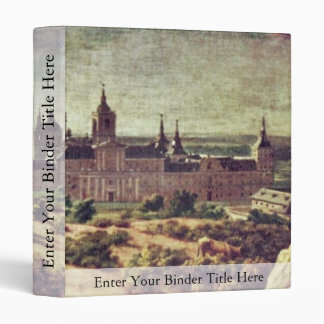 Look At The Escorial Monastery By Houasse Michel- 3 Ring Binder