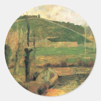 Look at the Sainte-Marguerite - Paul Gauguin Classic Round Sticker