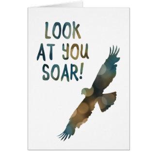 look at you soar bokeh card