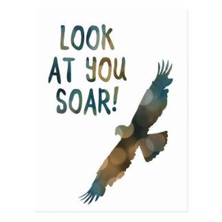 look at you soar bokeh postcard