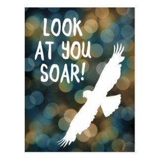 look at you soar postcard